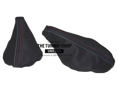 BLACK STITCHING SUEDE SHIFT & E BRAKE BOOT FITS BMW E30 82-91 M3 /// STITCH