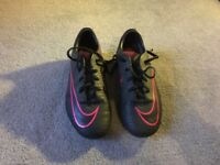Kids Nike Mercurial football boots. Size 12