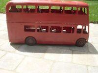 Antique double decker bus NEW PRICE