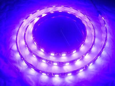 1 METER LIGHT PURPLE 60 LED BLACK PCB FLEXIBLE WATERPROOF 5050 SMD LED STRIP