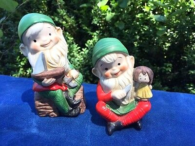 Santa's Elves Home Interior Toy Shelf Doll & Sailboat Pixies Gnomes Themselves