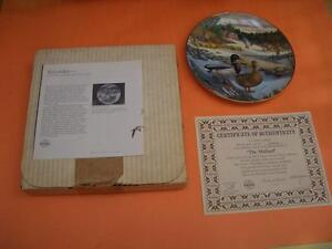 """""""THE MALLARD"""" COLLECTOR PLATE BY BART JENNER London Ontario image 3"""