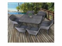 *FAST AND FREE DELIVERY* 7 Piece Contemporary Rattan Wicker Garden Furniture Set - BRAND NEW