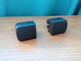 SAAB 9-5 95 Blank Button Dashboard Console Switch Blind Knob x2 pair