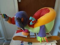 New Mamas and Papas Colourful Rocking Elephant Chair