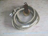 1 inch decorating rope with antique pulley