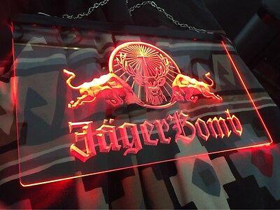 LED Neon Light Jagermeister Jager Bomb Sign Bar Club Pub Sport Gift Advertise