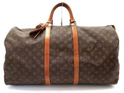 Vintage sac de voyage a main louis vuitton keepall 60 m41422 monogram bag 1440€
