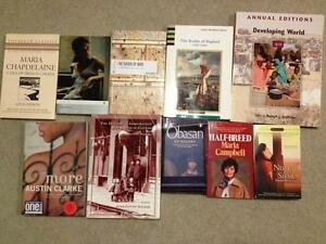 USED UNIVERSITY TEXT BOOKS AND NOVELS