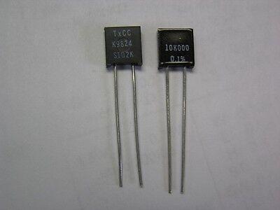 2 Vishay S102k 10k .6w .1 Bulk Metal Foil High Precision Resistors