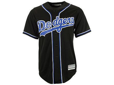 MLB Los Angeles Dodgers Men's Cool Base Custom Black / Royal Baseball Jersey Custom Mlb Baseball Jerseys