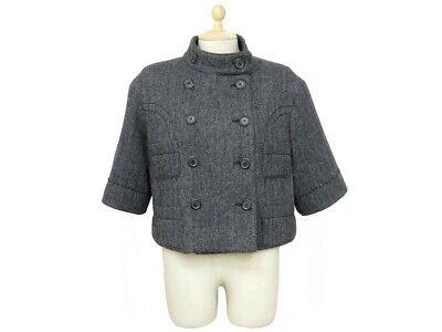 Neuf veste courte louis vuitton 40 m en laine blouson manteau coat jacket 950€