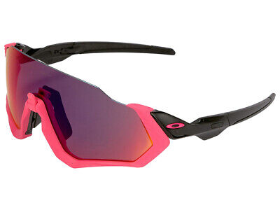 Oakley Flight Jacket Sunglasses OO9401-0637 Neon Pink/Polished Black/Prizm Road (Cheap Neon Sunglasses)
