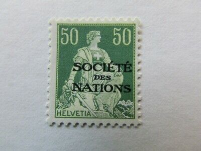 SWITZERLAND LEAGUE OF NATIONS SCOTT 2022A GRILLED 1930 MH A