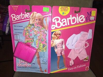 Vintage Lot Of (2) 1990's Barbie Outfits & Accessories~NIP