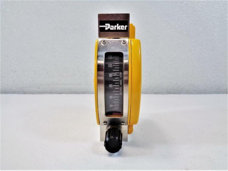 Parker Metal Tube Variable Area Flowmeter 0-120 SCFH Air, Part# P1001341011A