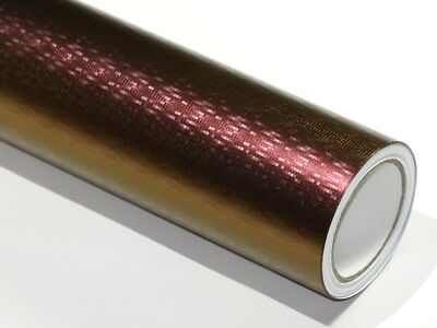 Autofolie Chameleon Karierter Lila wird zu Gold 50cm x 152cm mit Luftkanäle