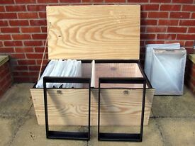 A3+ size custom made black wooden frames in crates