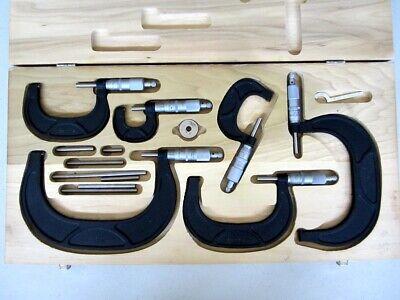Scherr Tumico Micrometer Outside Caliper Set 5210-00-554-7134 St Made In Usa