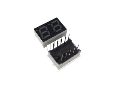 0.28 2 Digit 7-segment Led Display Dip Common Cathode - Red - Pack Of 2