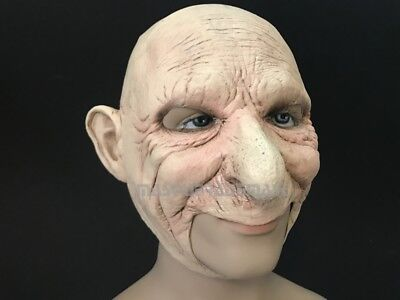 Halloween Costume Cosplay Party Old Man Old Lady Chainless open mouth mask](Old Lady Halloween)