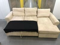 L shape sofa bed •free delivery