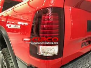 2018 Dodge Ram Tail Light, Tail Lamp Both = Left & Right / Chrome LED Type / Used | Clean & Undamaged