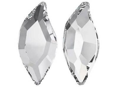 12 Swarovski Diamond Leaf Flatback HotFix 10x5mm clear Crystal # 2797 HF Hot Fix Diamond Leaf Crystal