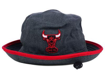 Chicago Bulls Graphite Heather Bucket Red Trim Hat New Era NBA HWC Cap Medium