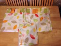 Mamas And Papas Tab Top Rosie And Rex Woodland Curtains and new lamp shade