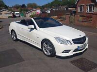 Low Mileage 60 reg Mercedes E350CDI Sport Convertible White, P/X & Finance Welcome