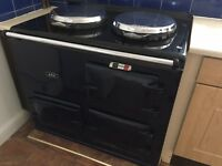 Two oven gas fire AGA in blue