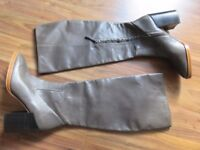 ZARA 40 leather new boots gray