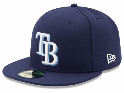 New Era Tampa Bay Rays GAME 59Fifty Fitted Hat (Light Navy) MLB Cap - Tampabay Rays