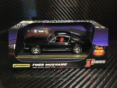 Pioneer Slot Car 1968 Ford Mustang Fastback GT Jet Black Route 66 P056 segunda mano  Embacar hacia Spain