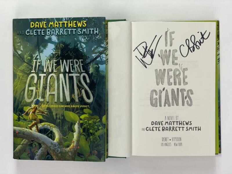 """DAVE MATTHEWS AUTOGRAPH """"IF WE WERE GIANTS"""" BOOK - BEFORE THESE CROWDED STREETS"""