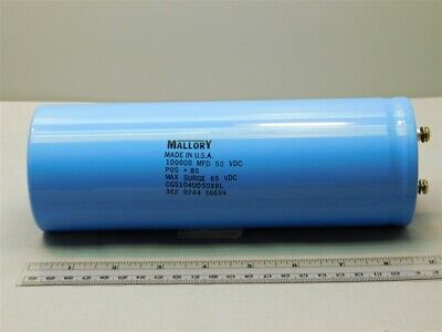 Mallory Cgs104u050x8l 100000uf 50v 85c -1075 Large Can Electrolytic Capacitor