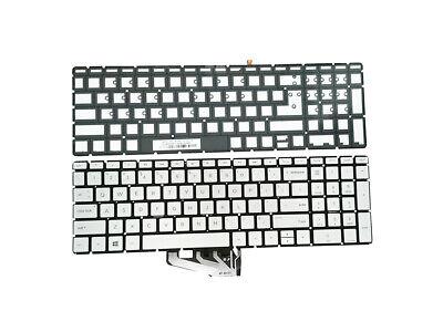 Backlit Keyboard Silver For HP 15-ef0022nr 15-ef1081nr 15-ef1038nr 15-ef1097nr