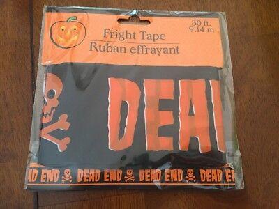 Halloween 1 Ending (1x 30 ft Orange Black Keep Dead End Tape Halloween Decoration Haunted)