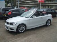BMW 1 SERIES 120D M SPORT CONVERTIBLE (white) 2012