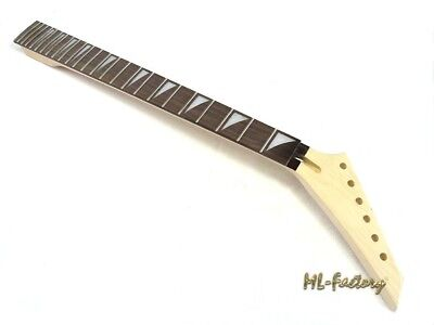 Metal-Style Hals/Neck ML-Factory® mit Shark Inlays, 24 Bünde