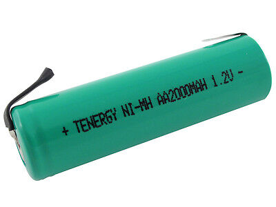 Tenergy AA 1.2V 2000mAh NiMH Flat Top Rechargeable Battery Cell w/ - 1.2v Nimh Aa Battery