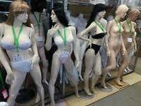 RECYCLED DISPLAYS NEW ARRIVALS MANNEQUINS SHOPPING BASKETS