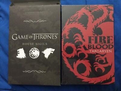 "ThinkGeek Capsule Game of Thrones House Sigil Canvas Art Targaryen Dragon 6""x9"""