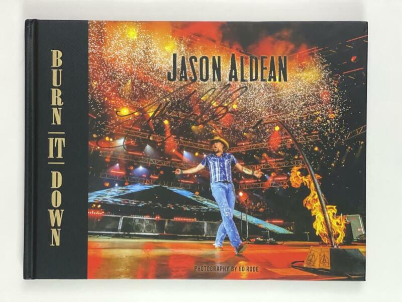 """JASON ALDEAN SIGNED AUTOGRAPH """"BURN IT DOWN"""" PHOTO BOOK - COUNTRY MUSIC STAR"""