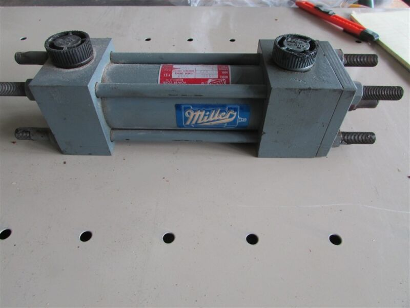 "New Miller 1151R 5000 Lb. 1-1/2"" Bore Tie Rod Hydraulic Cylinder 3"" Stroke D-7"