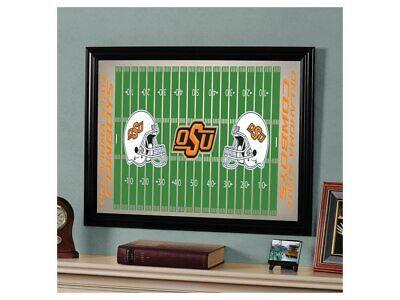 Oklahoma State Cowboys Framed Football Field Wall Mirror 23