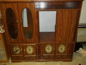 MOVING-Solid wood furniture items-Dresser, wine rack, tables&...