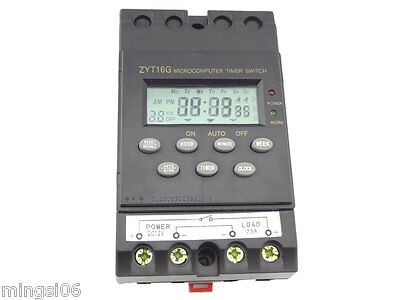 12v Timer Switch Timer Controller Lcd Displayprogrammable Timer Switch 25a Amps