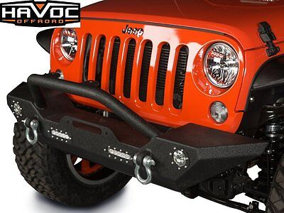 Havoc Offroad Wrecking Ball Jeep Wrangler 2007-17 JK Front Bumper w/ LED Lights
